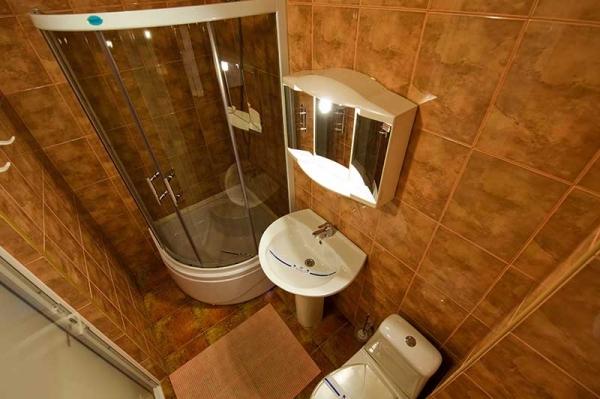 Дизайн ванной комнаты маленького размера эконом