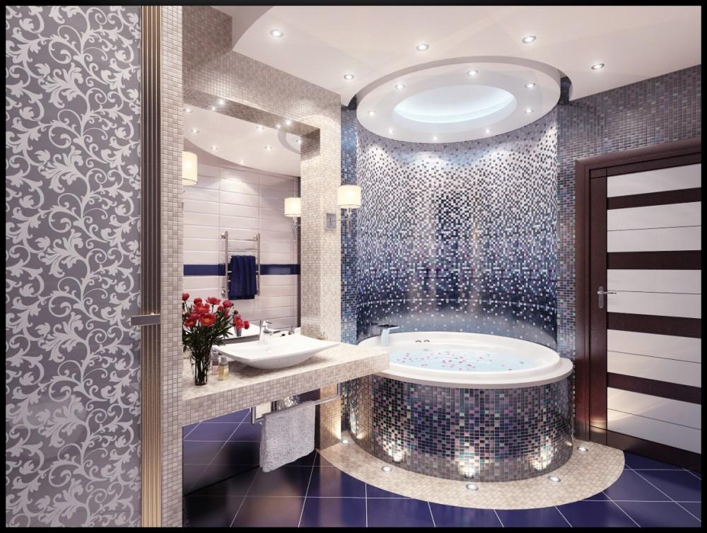 Круглая ванна в ванной комнате дизайн
