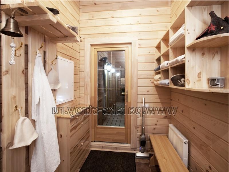двухэтажная баня из бревна фото внутри сочетает