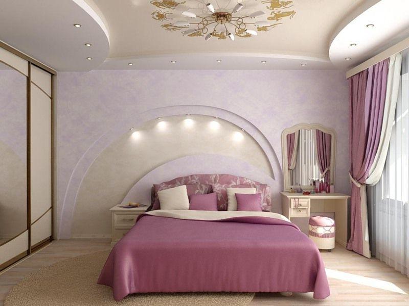 Фото дизайн потолков из гипсокартона в спальне
