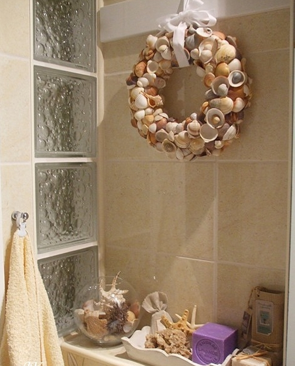Seashell bathroom