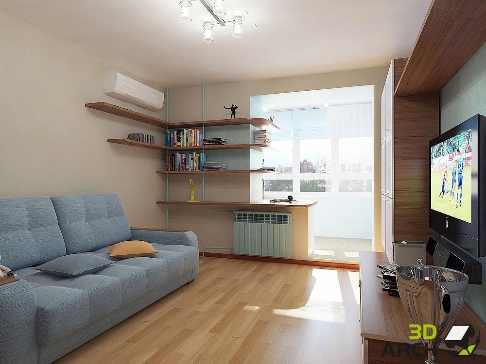 """Дизайн гостинной комнаты 10 кв.м """" современный дизайн."""