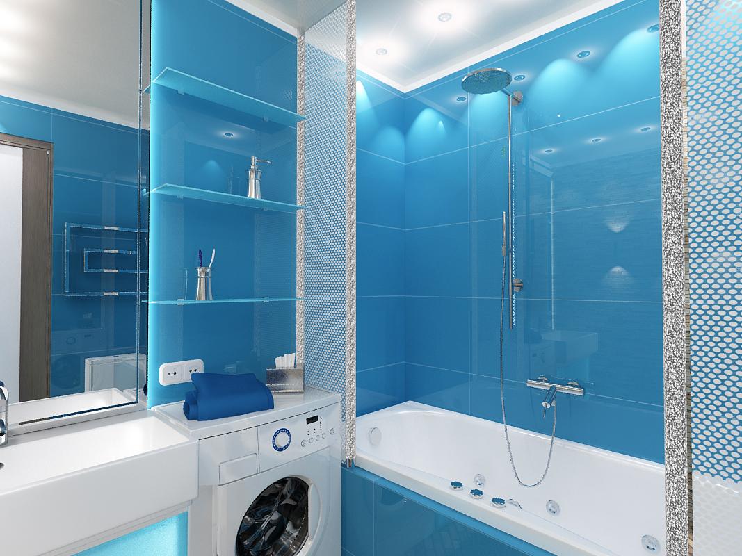 Интерьер ванной на 4 кв.м