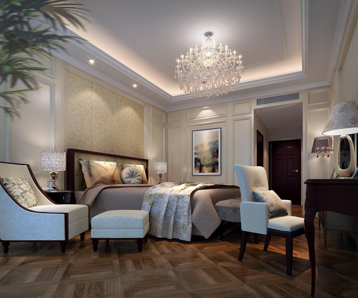 Спальня в неоклассическом стиле дизайн