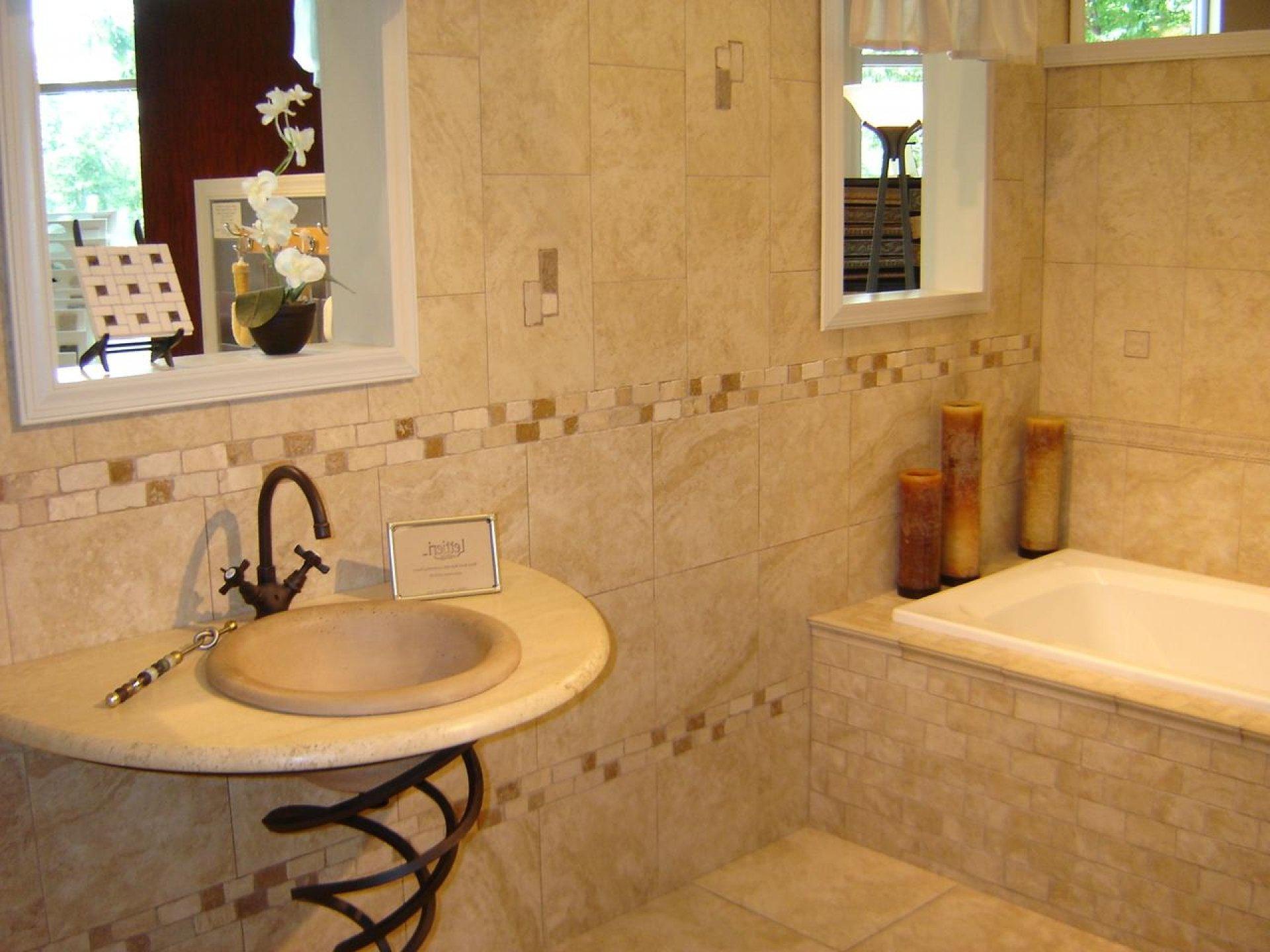 Отделка ванной комнаты плиткой дизайн 45 квадратов