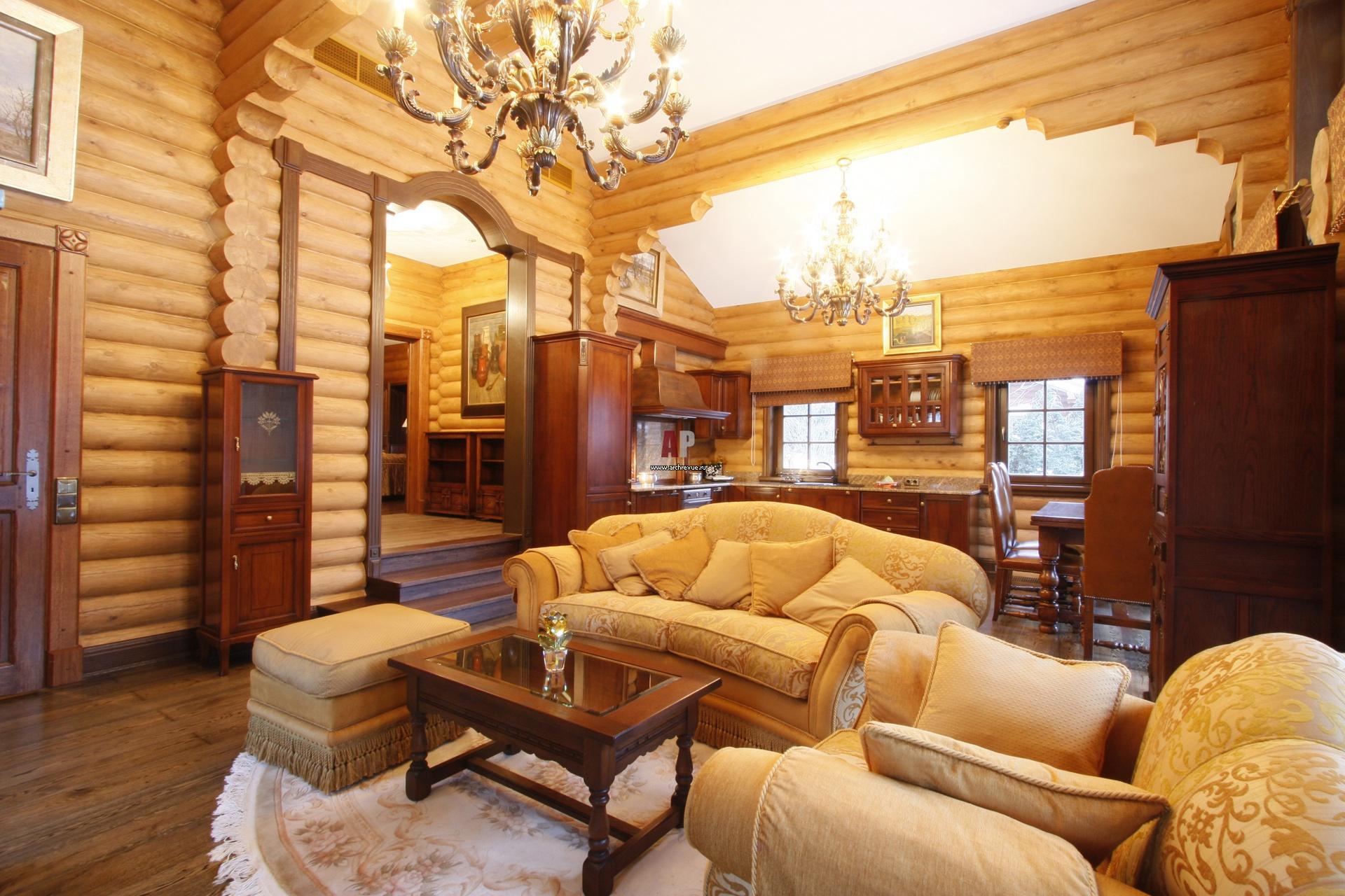 Дизайн частном деревянном доме
