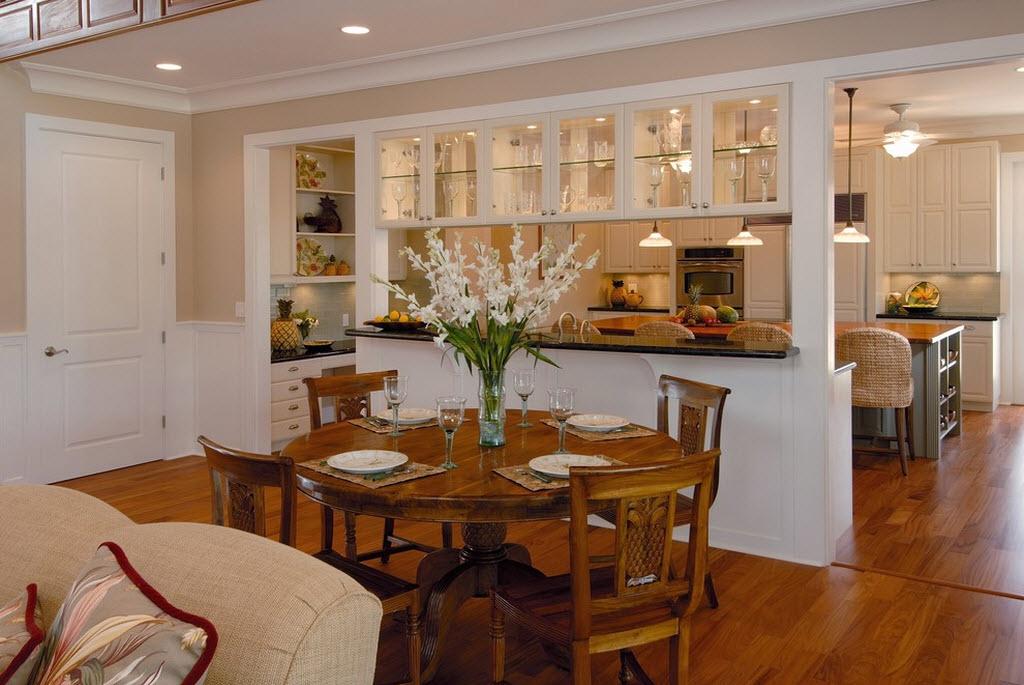 Интерьер кухни вместе фото
