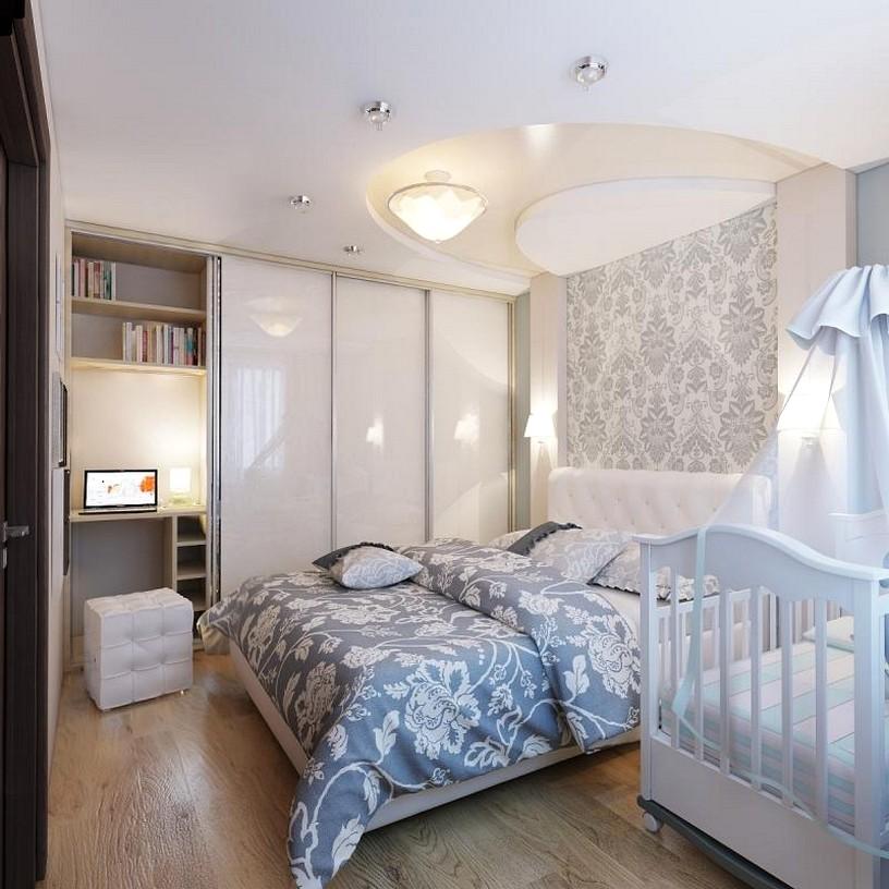 Дизайн спальни и детской кроватки 186
