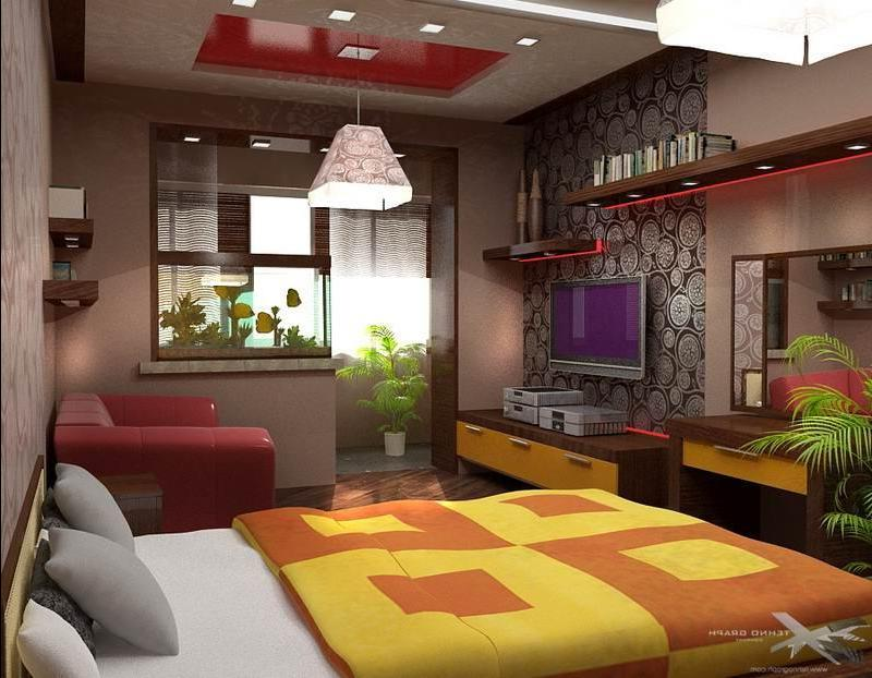 Фото дизайна комнат соединенных с лоджией