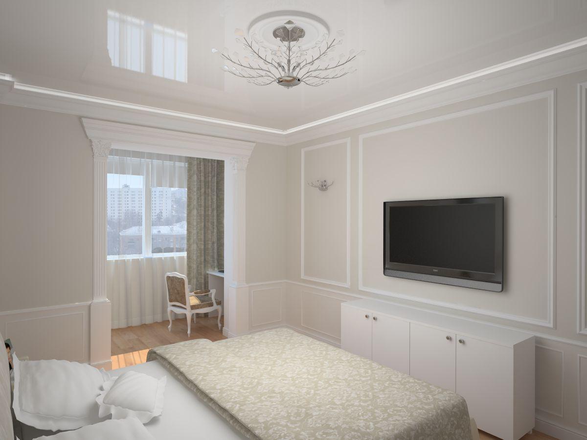 Фото дизайна спальни с балконом