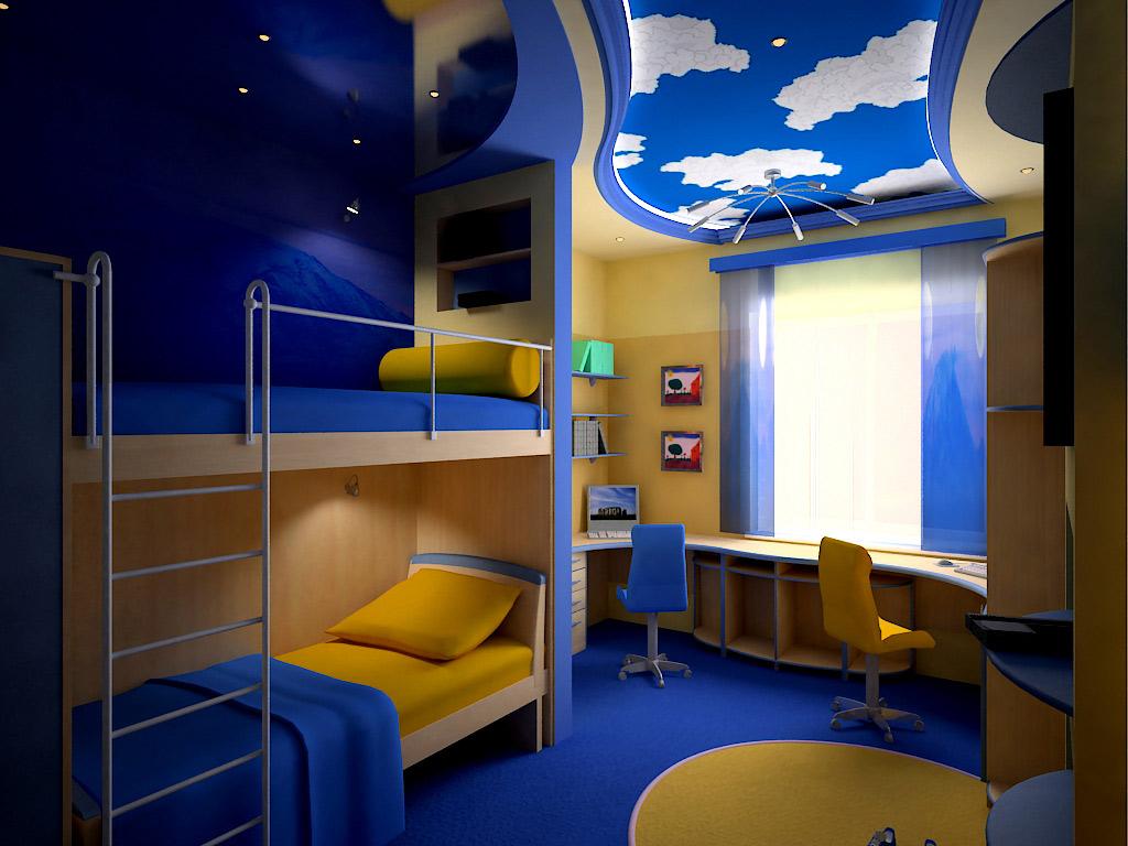 Дизайн детских комнат на двоих детей