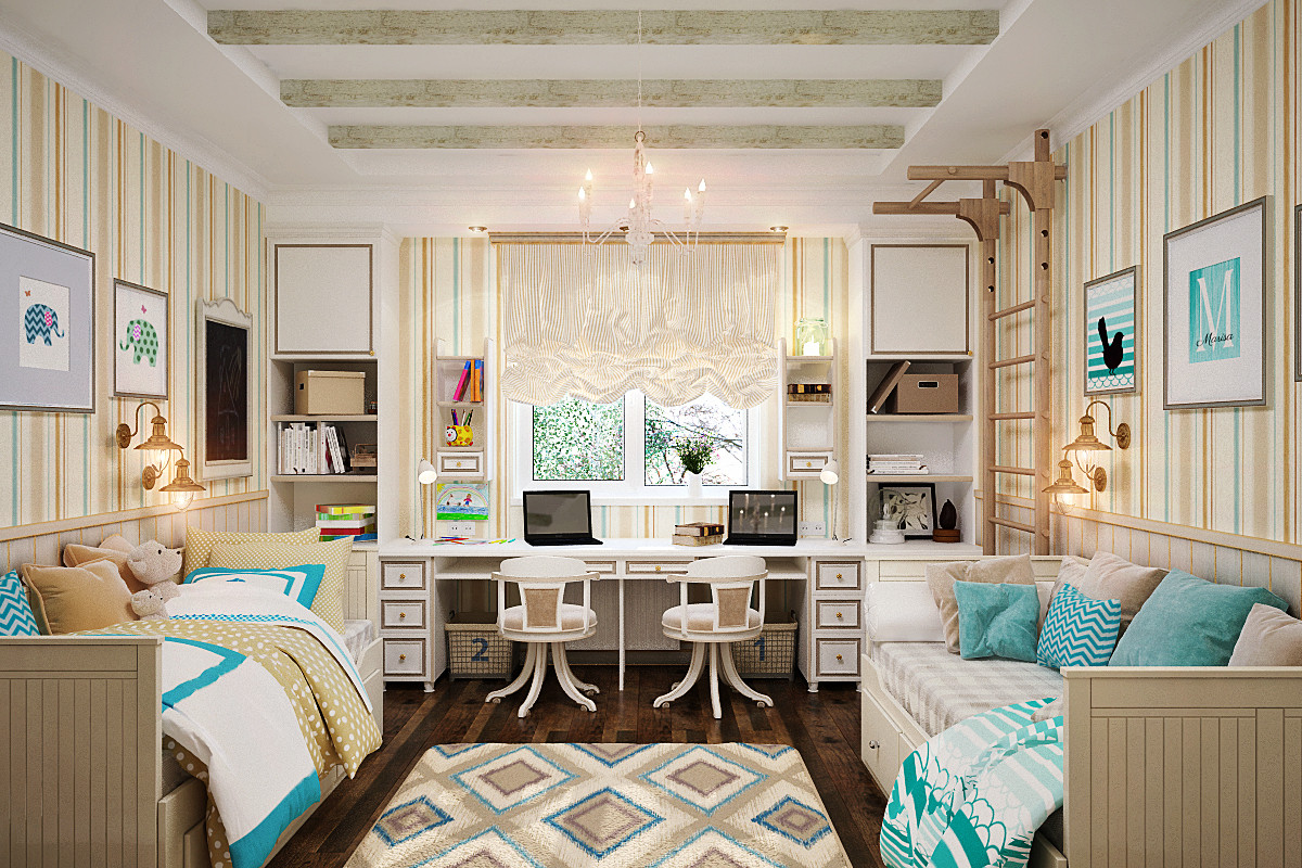 Дизайн комнаты для двоих детей