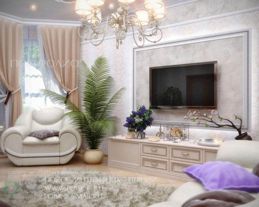 Светлая Мебель Гостиная Фото