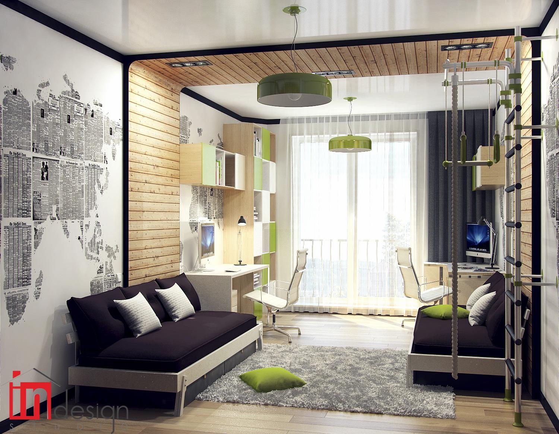 Дизайн интерьеров для мальчика подростка
