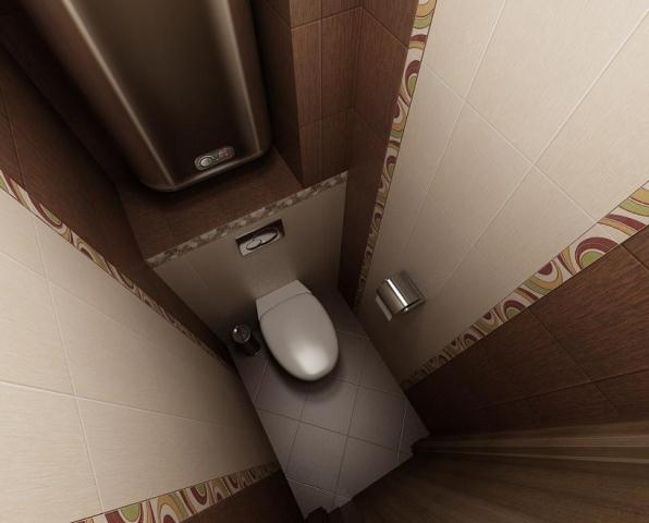 Дизайн туалета из панелей маленького размера
