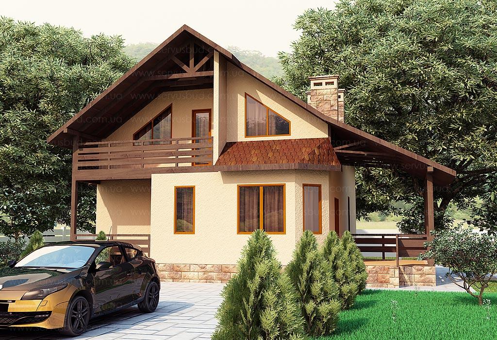 """Красивые дома с террасой фото """" современный дизайн."""