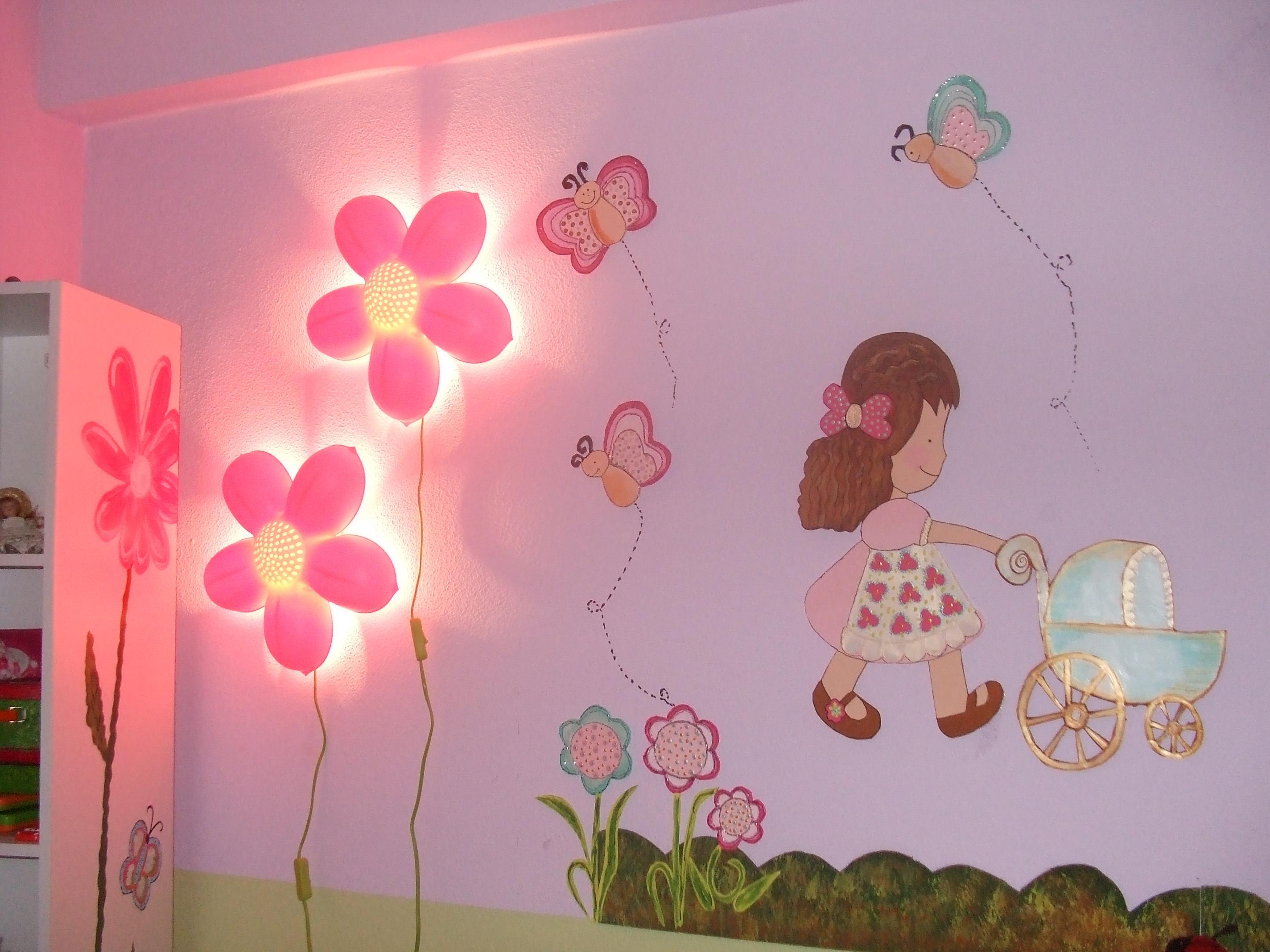 Дизайн стены своими руками в детской комнате 18