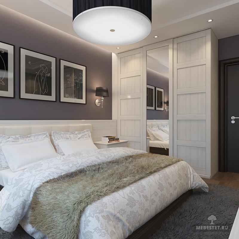 Интерьер в спальне 15 кв.м