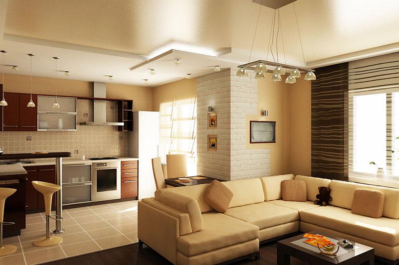 Дизайн гостиной совмещенной с кухней советы и рекомендации о.