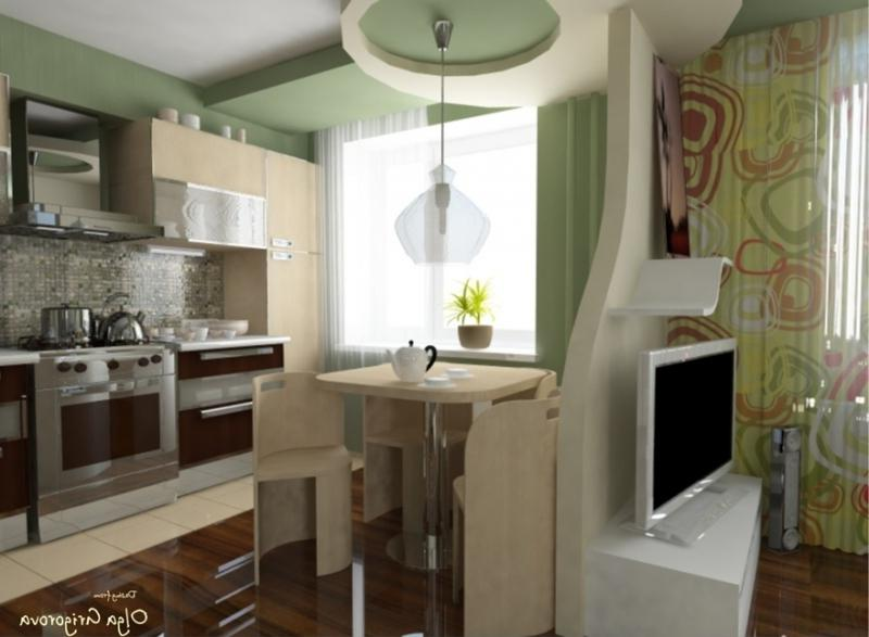 Как сделать в маленькой кухне гостиную