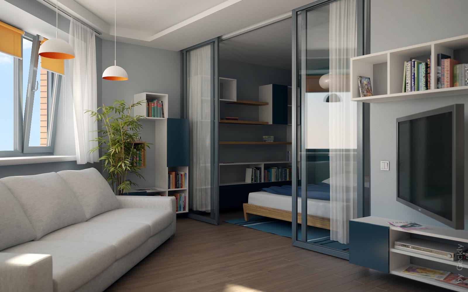 Дизайн интерьера двухкомнатной квартиры малогабаритной фото