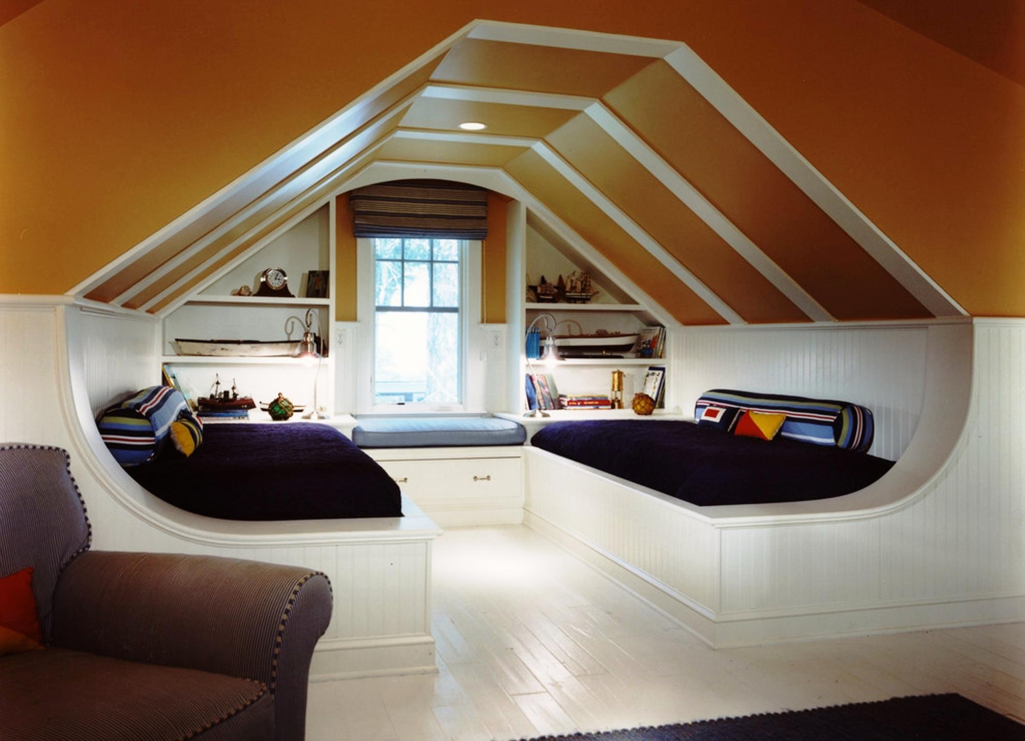 Мансардные комнаты дизайн и интерьер