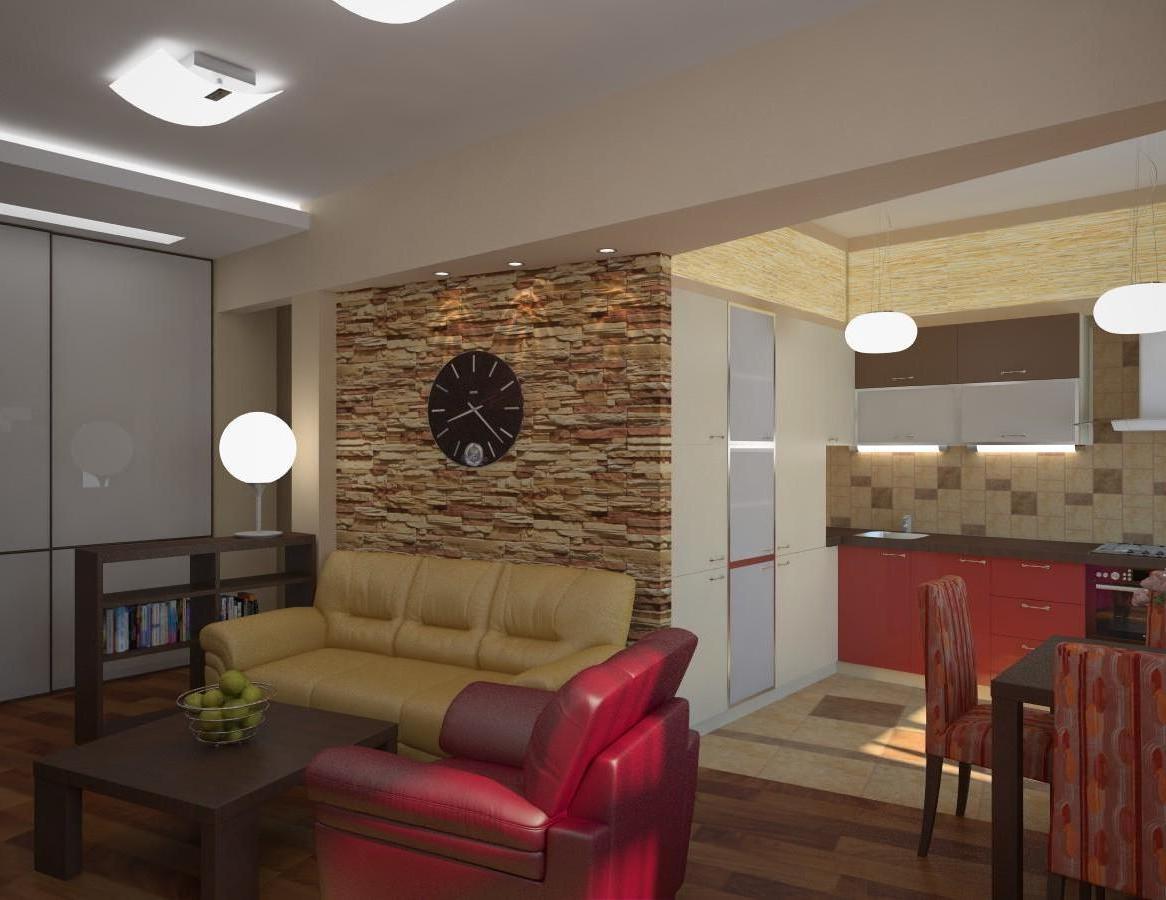 Кухня совмещенная с гостиной на 16 кв м дизайн