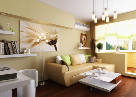 Фото дизайна гостиной с лоджией