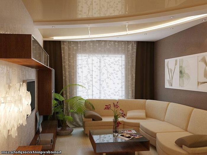 """Дизайн зала 15 кв метров """" современный дизайн."""