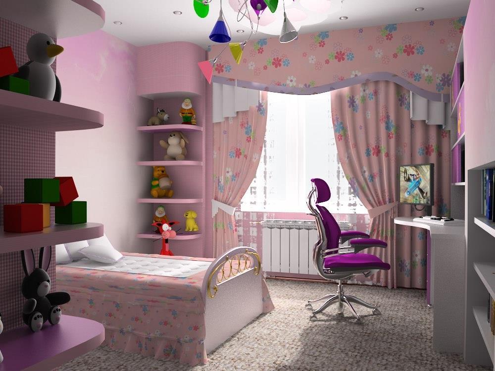 Дизайн комнаты для маленькой девочки