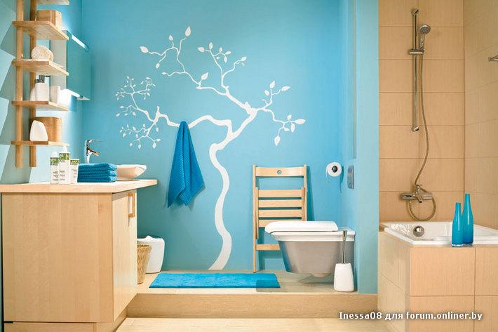Ремонт в ванной комнате покраска стен своими руками