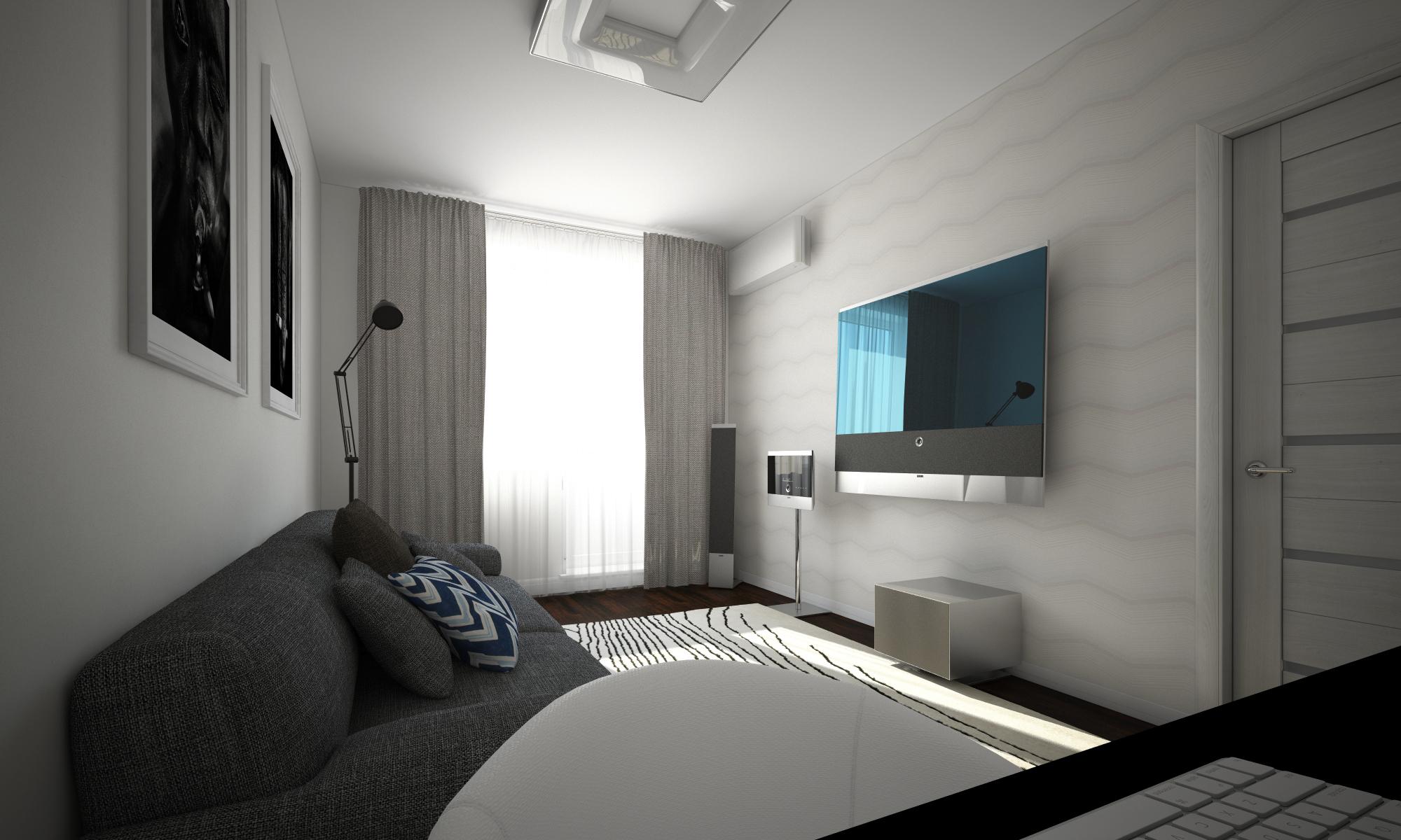 Интерьер комнаты 14 кв.м фото мужчине с балконом