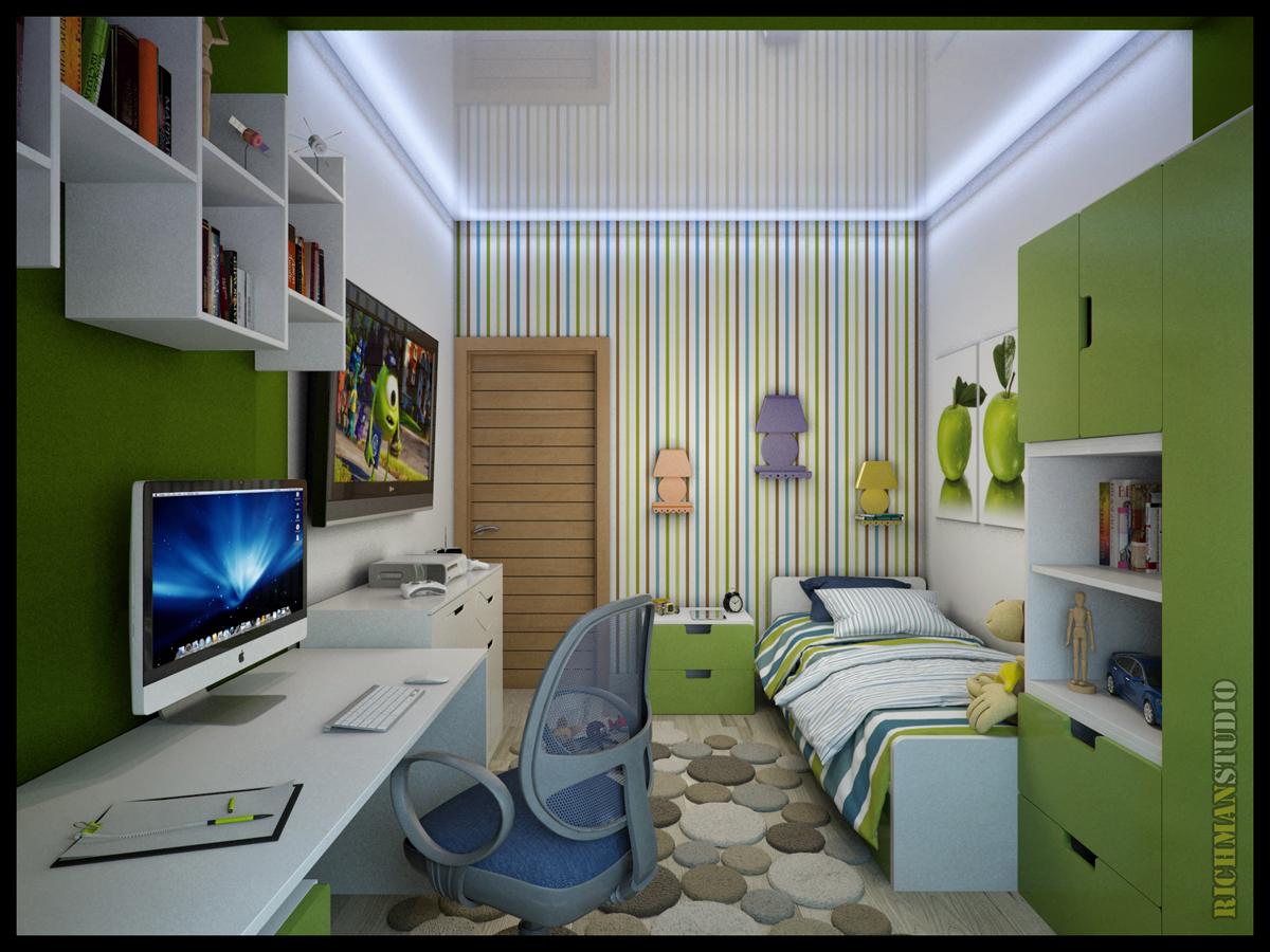 Дизайн комнаты для мальчика 12 квм