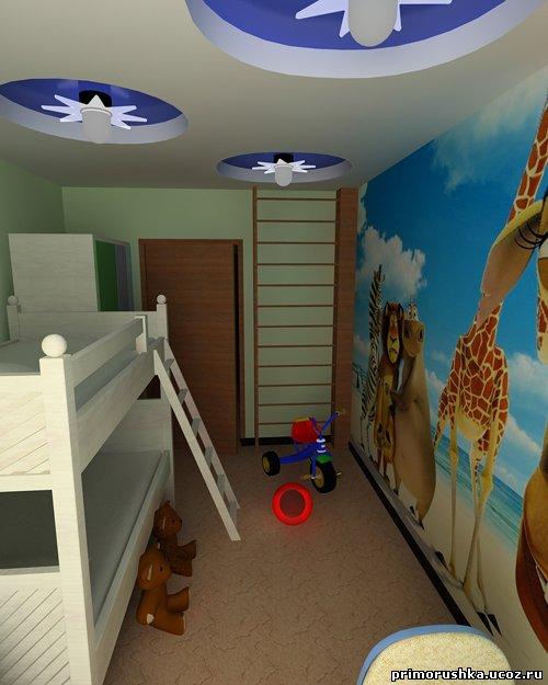 Как сделать из узкой комнаты детскую фото