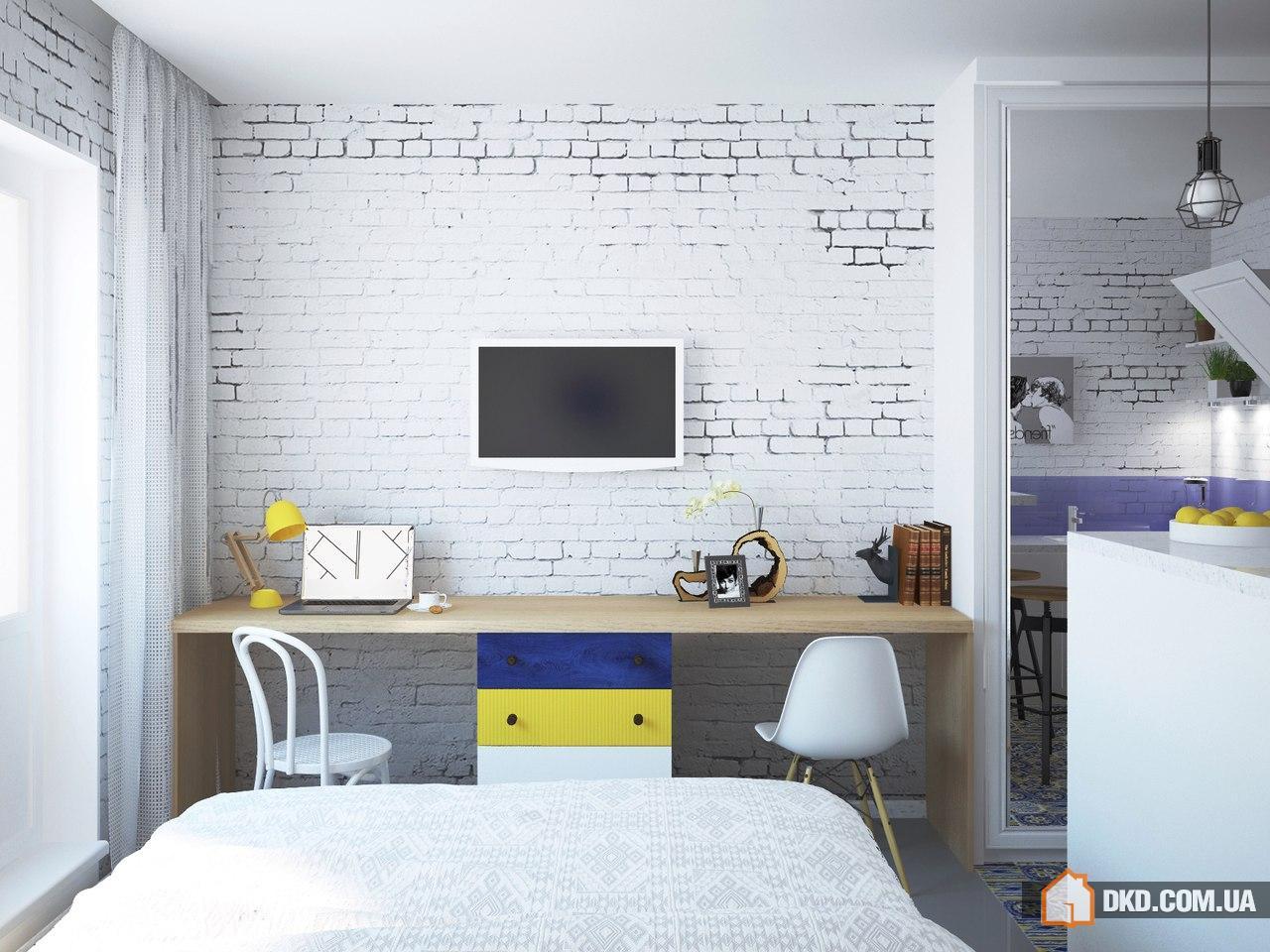 Квартира-студия 28 кв.м дизайн