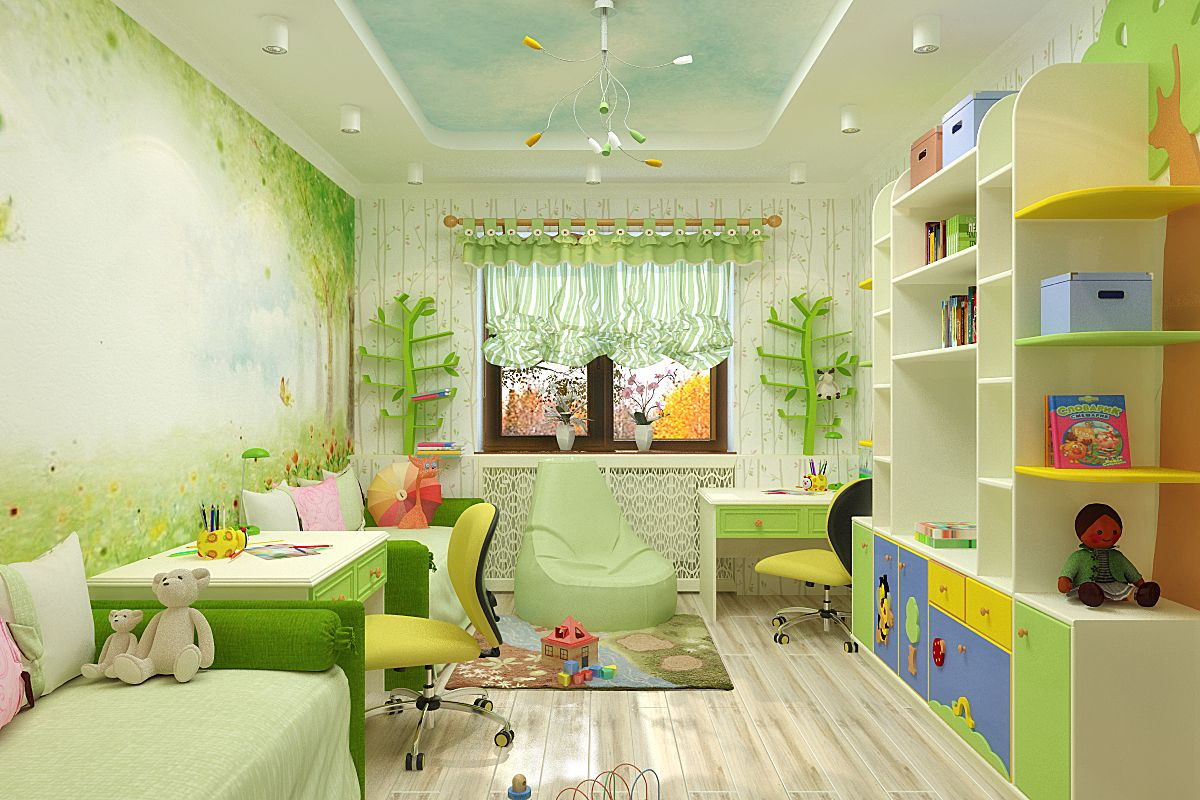 Идеи комнаты для двоих детей фото