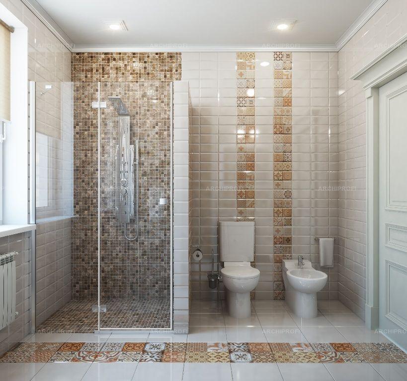 Дизайн ванны с окном в частном доме