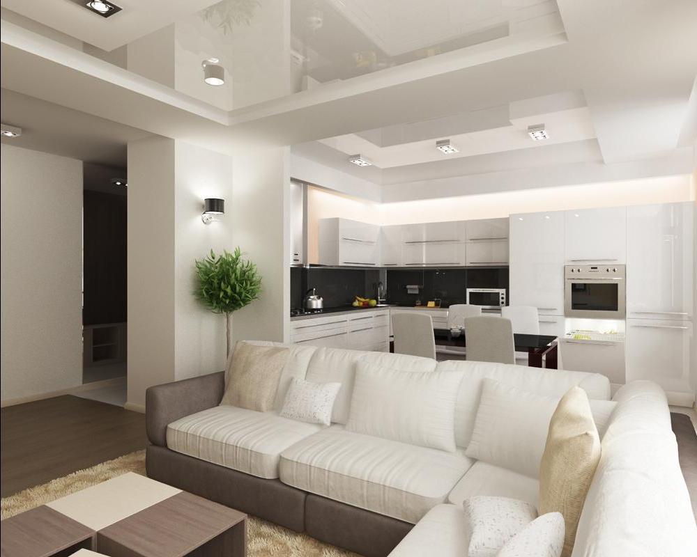 Фото дизайн совмещение кухни с гостиной
