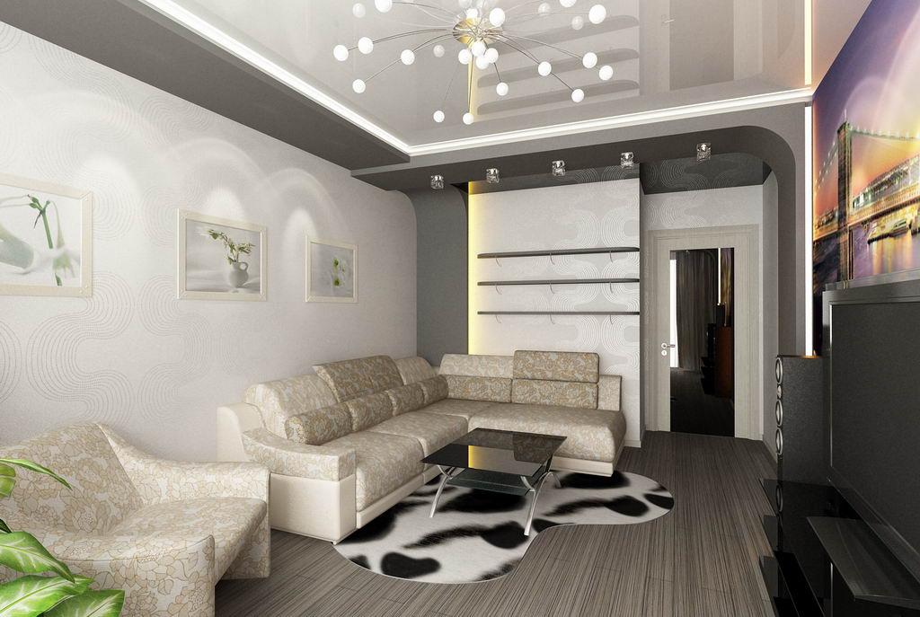 Молодежный дизайн 1 комнатной квартиры