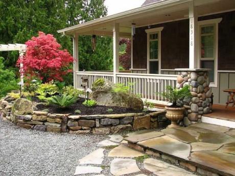 Дачные дома с ландшафтным дизайном