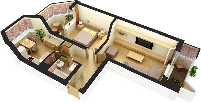 Дизайн квартиры п44т распашонка