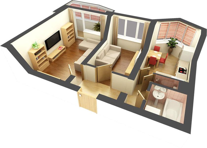 Дизайн проекты двухкомнатных квартир хрущевка