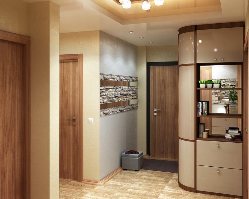 Дизайн коридора двухкомнатной квартире 60