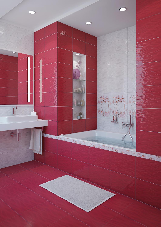 Керамическая плитка для ванной дизайн орхидея