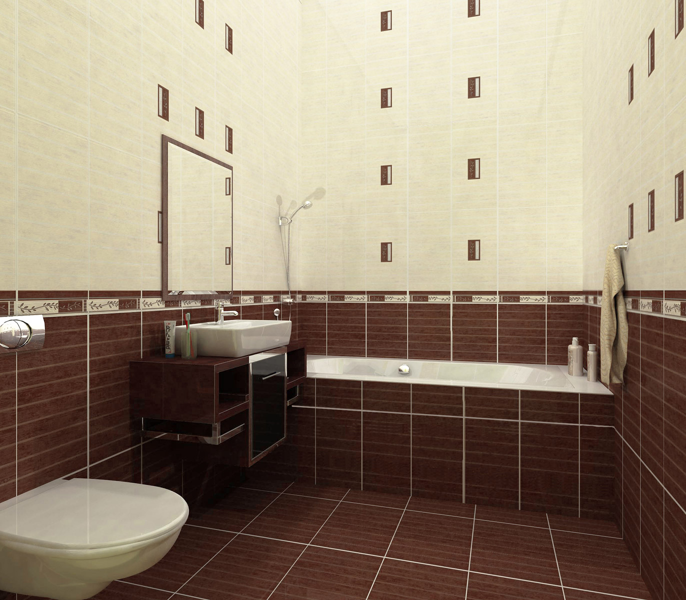 Плитка в ванную комнату и дизайн