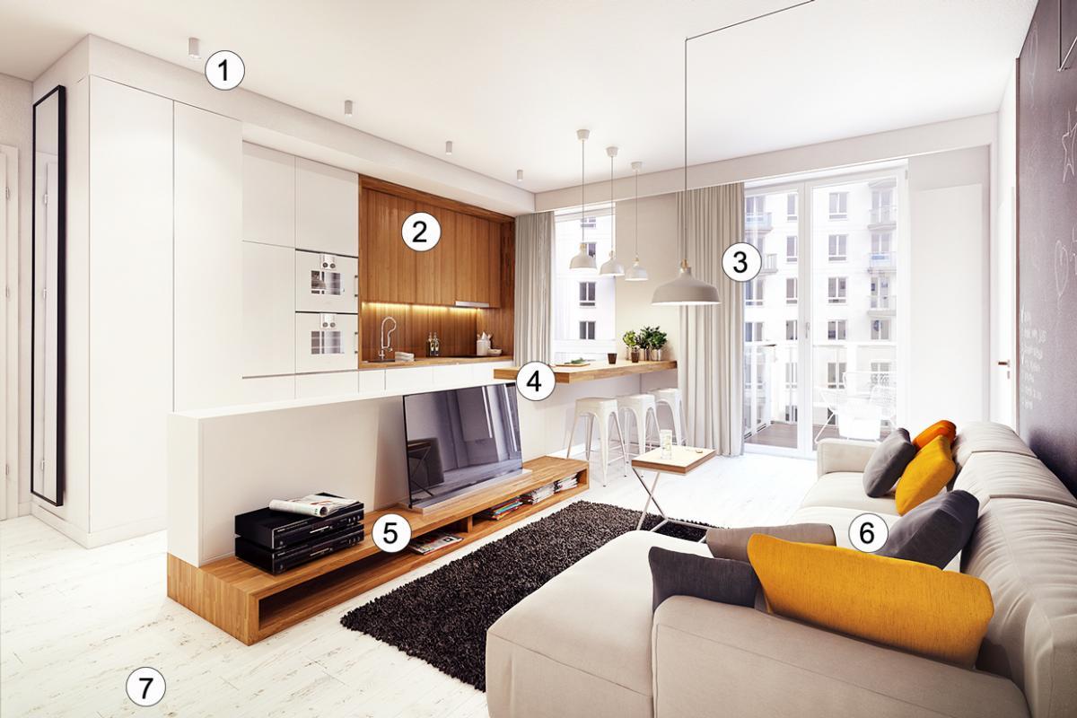 Дизайн комнаты 24 кв.м в современном стиле