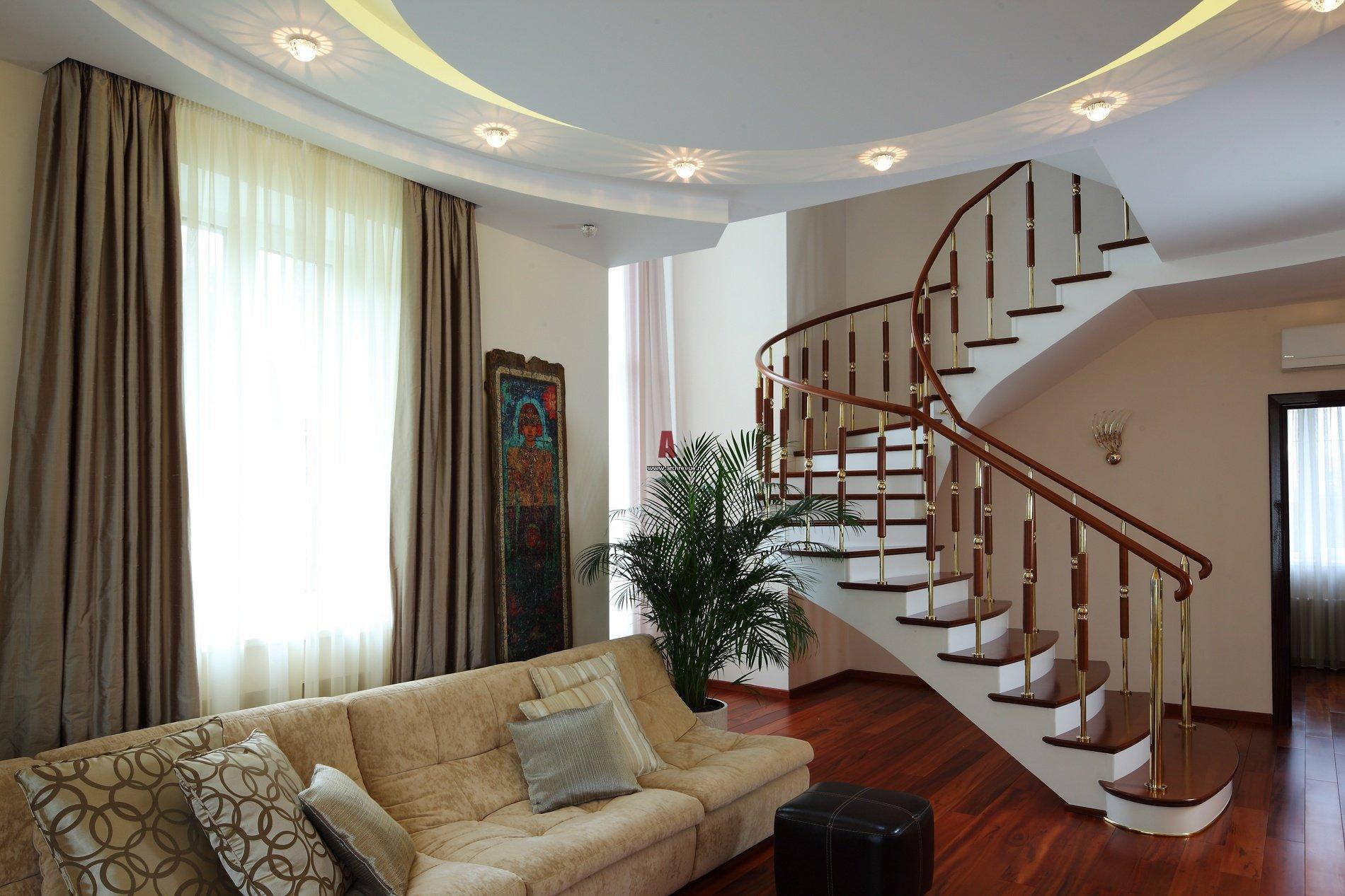 Интерьер лестницы на второй этаж фото в частном доме