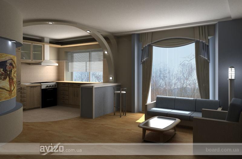 Фото дизайн кухня совмещенная с залом интерьера