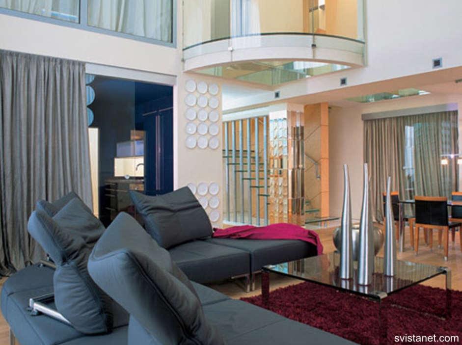 Стиль хай тек в интерьере - гостиной, кухни, квартиры, спаль.