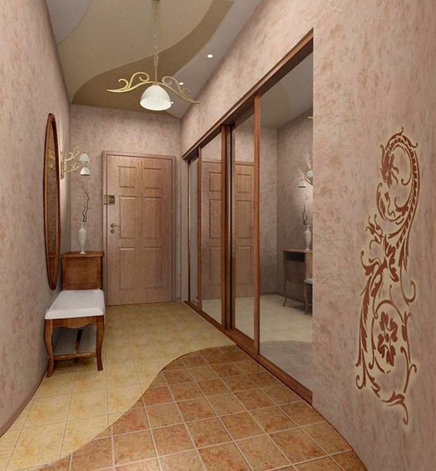 Дизайн в длинной прихожей в квартире